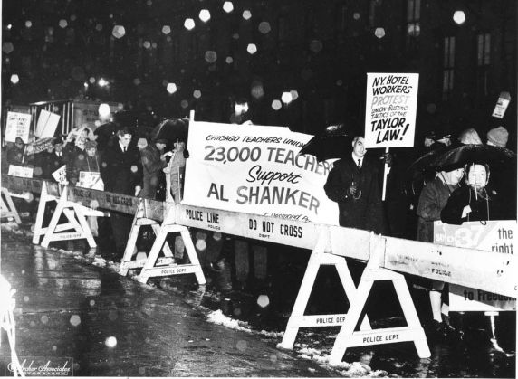 Albert Shanker, imprisonment, vigil