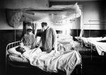 (11128) Base Hospital #17, Influenza Ward, Interior View, Dijon, France, 1918