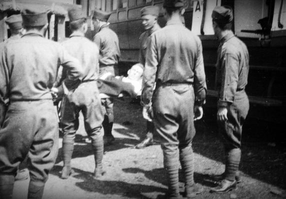 (11185) Hospital Train, Casualties, Dijon, France, 1917