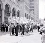 (DN_1122) NAACP, Pickets, Housing Discrimination, Detroit, 1963