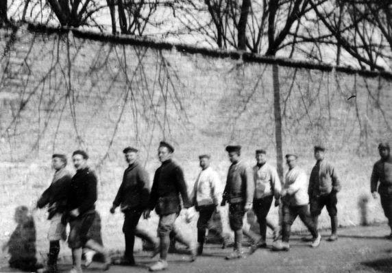 (11242) German Prisoners of War, Dijon, France, 1917