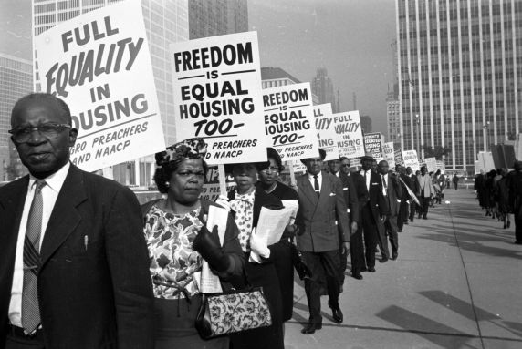 (DN_1127_1) NAACP, Pickets, Housing Discrimination, Detroit, 1963