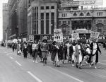 (11367) UAW, Women's Auxiliary, Marches, Detroit, Michigan, 1940s