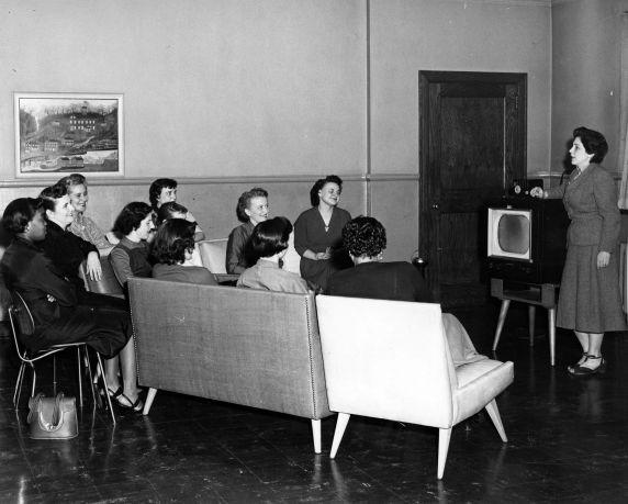 (11461) University Television, WTVS-TV, Channel 56, Hamtramck, Michigan, 1950s