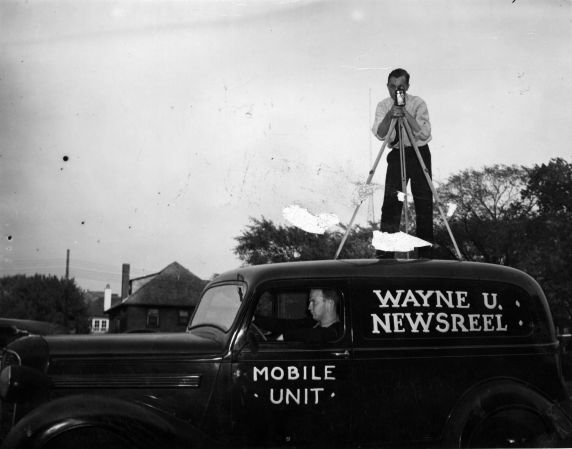 (11465) University Television, WTVS-TV, Channel 56, Mobile Unit, Detroit, Michigan, 1957