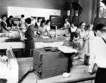 (11467) Television, National Broadcasting Company (NBC), Old Main, Detroit, Michigan, 1950s