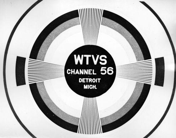(11469) University Television, WTVS-TV, Channel 56, Test Pattern, Detroit, Michigan, 1950s