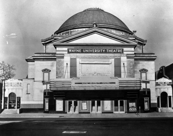 (11471) Bonstelle Theatre, Exterior, Detroit, Michigan, 1950s