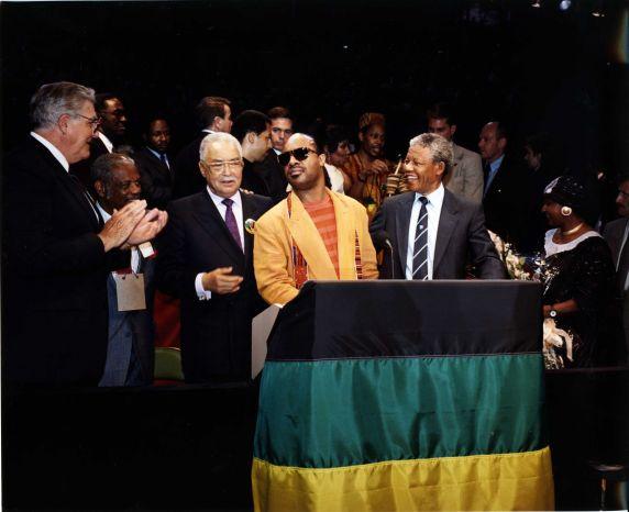 (11474) Mandela, Young, Keith, Bieber, Wonder, Detroit, Michigan, 1990