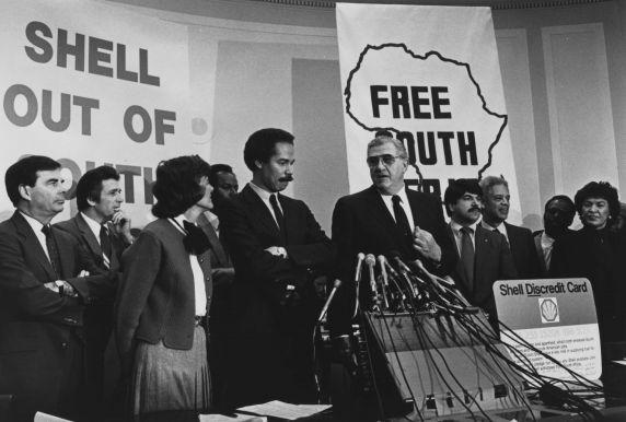 (11477) Tutu, Bieber, Robinson, Shell Boycott, Washington DC, 1986