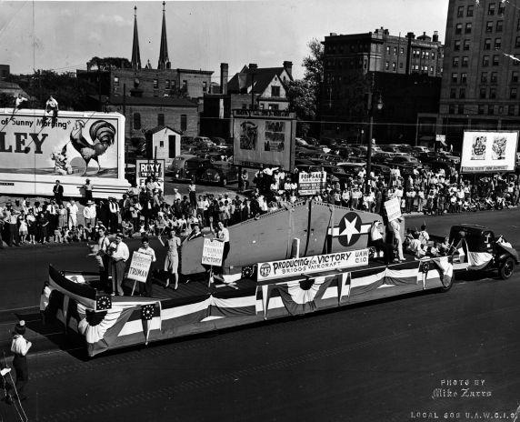 (11499) Defense Work, Labor Day Parade, Detroit, Michigan, 1940s