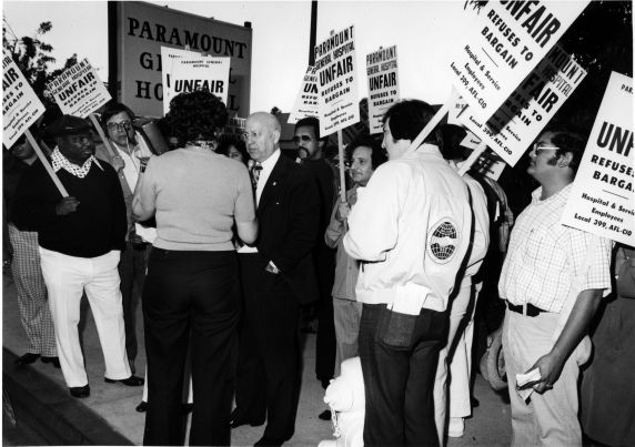 George Hardy, Strike, Paramount General Hospital, California, 1974