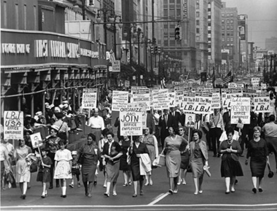 (12008) Demonstrations, Labor Day, Woodward Avenue, Detroit, 1964