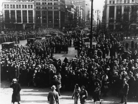 (12274) Ford Hunger March, Funeral Procession, 1932