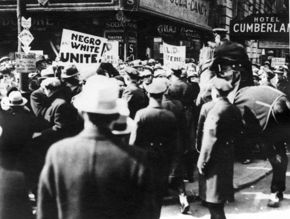 (12277) Ford Hunger March, Funeral Procession, Police, 1932