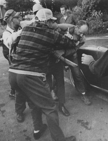 (12397) Altercation during road workers strike, Garrett County, MD, 1970