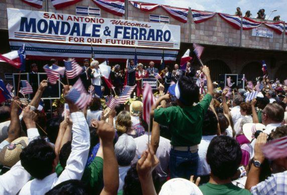 (12458) AFSCME, rally, Mondale, Ferraro