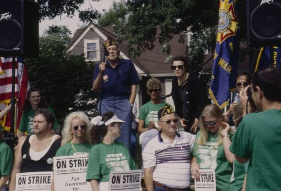 (12495) Veteran speaks at AFSCME Local 3280 Anna, IL Veterans' Home rally