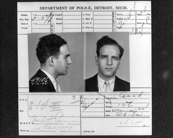 (13031) Purple Gang, Arrests, Sylvan Bernstein, 1935