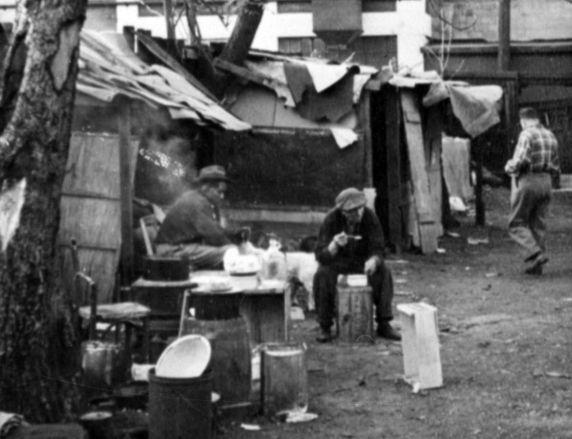 (1684) Poverty Scenes, Michigan Ave., Detroit, 1950s