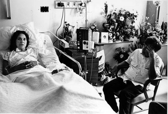 (191) Cesar Chavez, Dolores Huerta, Violence, San Francisco, 1988