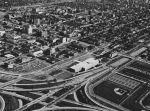 Campus, aerial view, Detroit, Michigan