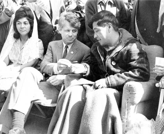 (234) Fasts, Cesar Chavez, Robert Kennedy, Delano, California, 1968
