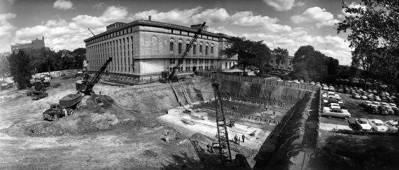 (2458) Buildings, Libraries, Detroit Public Library, Construction, 1960s