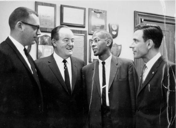 (24801) Vice President Hubert Humphrey and President  William Simons, Washington Teachers Union, Local 6, AFT