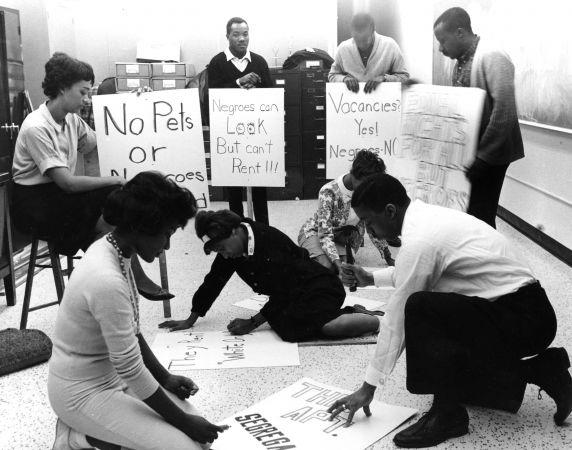 (24840) NAACP, Demonstrations, Housing Discrimination, Detroit, 1962