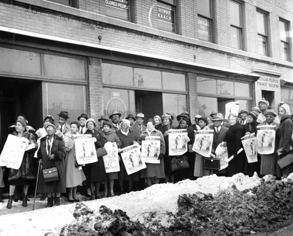 (24842) NAACP, Demonstrations, State Capitol, Lansing, 1960