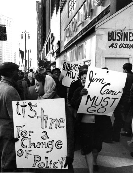 (24844) NAACP, Demonstrations, F.W. Woolworth, Detroit, 1960