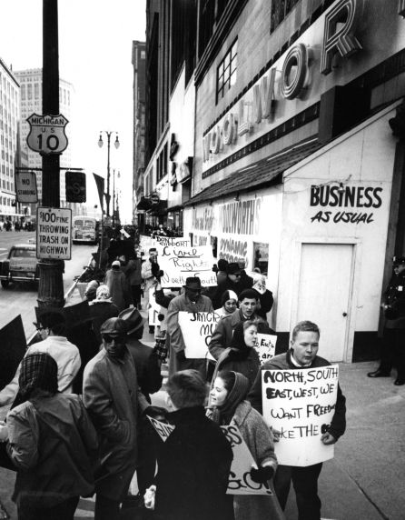(24845) NAACP, Demonstrations, F.W. Woolworth, Detroit, 1960