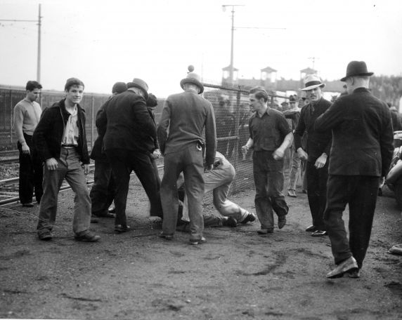 (25223) UAW Organizing, Violence, Battle of the Overpass, Dearborn, 1937