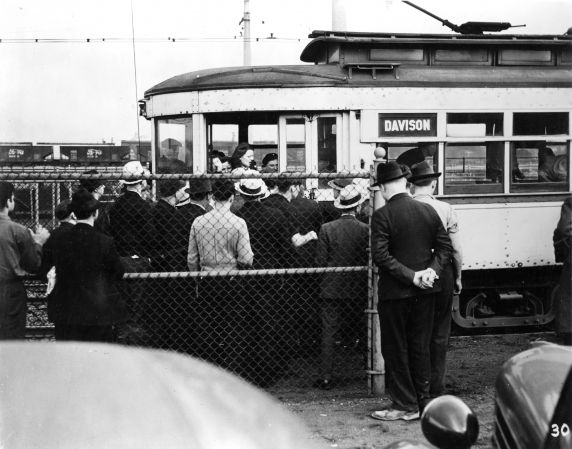 (25239) UAW Organizing, Battle of the Overpass, Dearborn, 1937