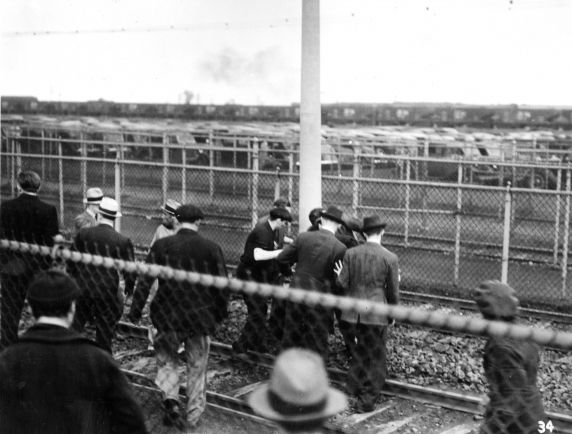 (25243) UAW Organizing, Battle of the Overpass, Dearborn, 1937