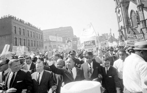 """(25329) Civil Rights, Demonstrations, """"Walk to Freedom,"""" Detroit, 1963"""