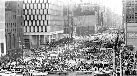 """(25331) Civil Rights, Demonstrations, """"Walk to Freedom,"""" Detroit, 1963"""