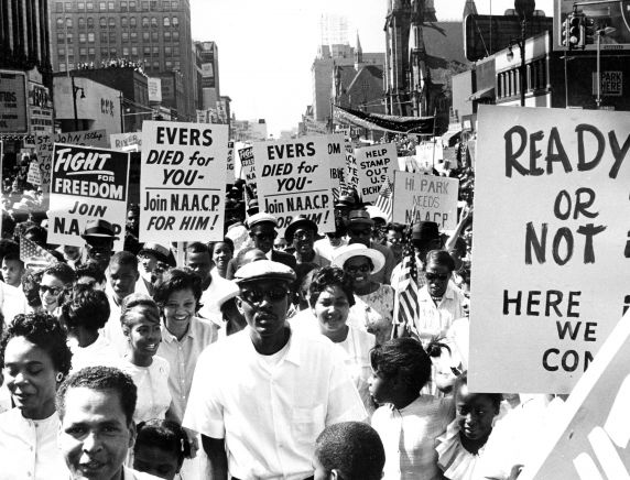 """(25334) Civil Rights, Demonstrations, """"March to Freedom,"""" Detroit, 1963"""
