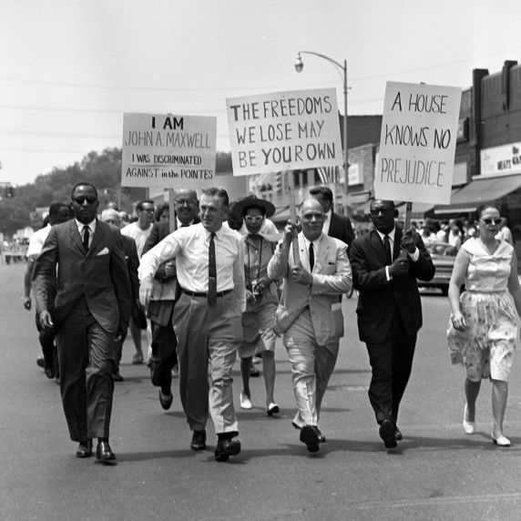 (25370) Civil Rights, Demonstrations, Grosse Pointe, Michigan, 1963