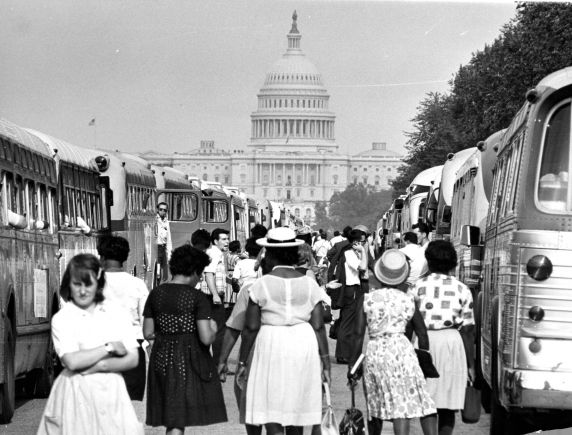 """(25395) Civil Rights, Demonstrations, """"March on Washington,"""" 1963"""