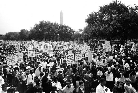 """(25398) Civil Rights, Demonstrations, """"March on Washington,"""" 1963"""