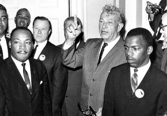 """(25417) Civil Rights, Demonstrations, """"March on Washington,"""" Leaders, 1963"""