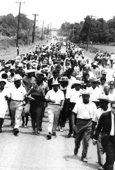 """(25428) Civil Rights, Demonstrations, """"Meredith March Against Fear,"""" Mississippi, 1966"""