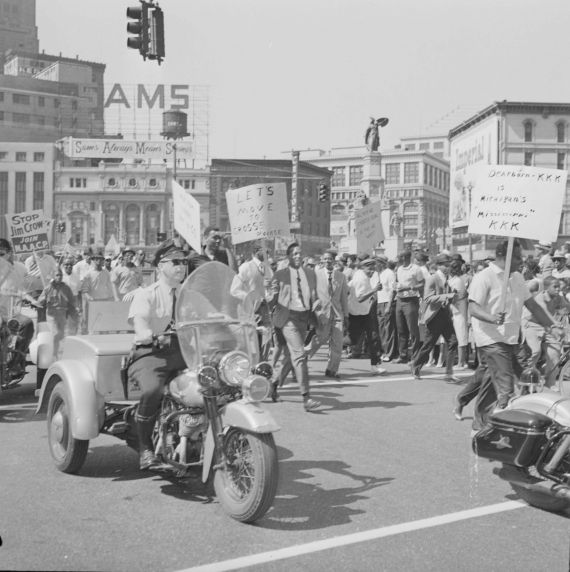 """(25756) Civil Rights, Demonstrations, """"March to Freedom,"""" Detroit, 1963"""