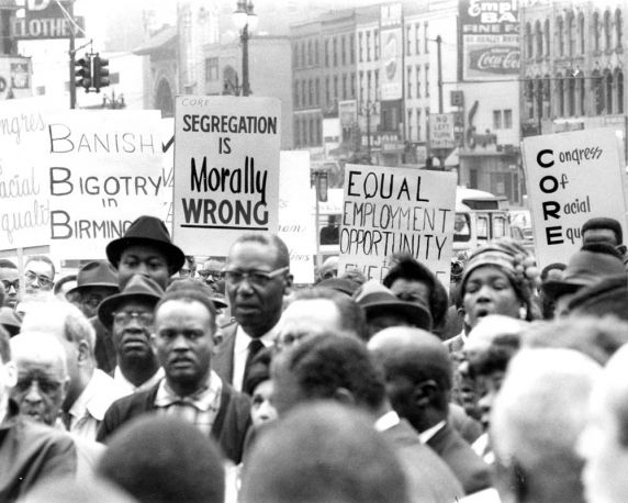 """(25874) Civil Rights, Demonstrations, """"Freedom Rally"""", 1963"""