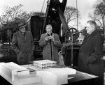 (25925) Buildings, McGregor Memorial, Groundbreaking, Hilberry, Neef, 1956