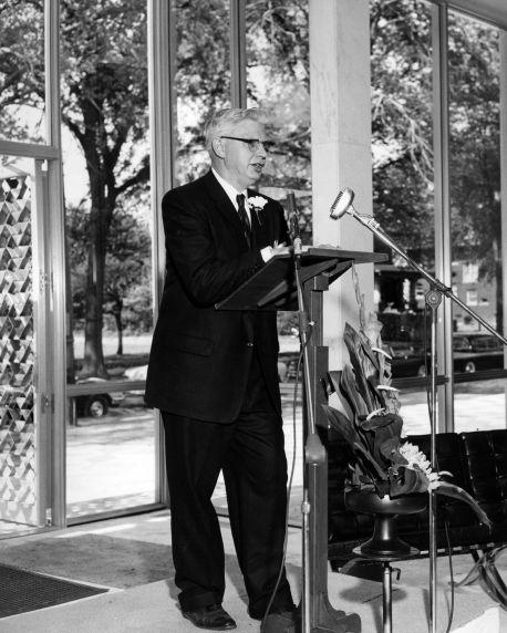 (25930) Buildings, McGregor Memorial, Dedication, Neef, 1958