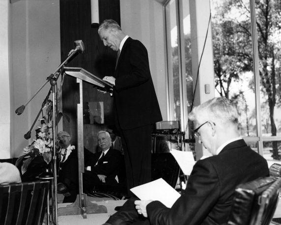 (25933) Buildings, McGregor Memorial, Dedication, 1958