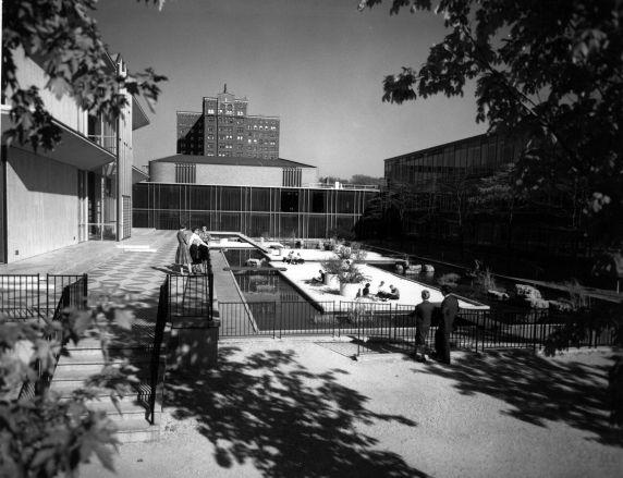 (25942) Buildings, McGregor Memorial, Gardens, 1960s